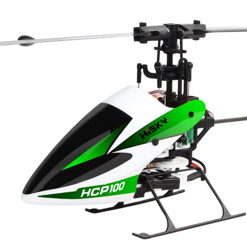 HISKY HCP100 Flybarless RC Helicopter - Green