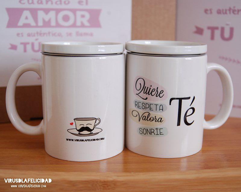 Una taza de té? Mejor si es con este mensaje  Consigue la tuya en www.virusdlafelicidad.com  #te #tea #taza #virusdlafelicidad #autoestima #mensajepositivo #regalo #tienda
