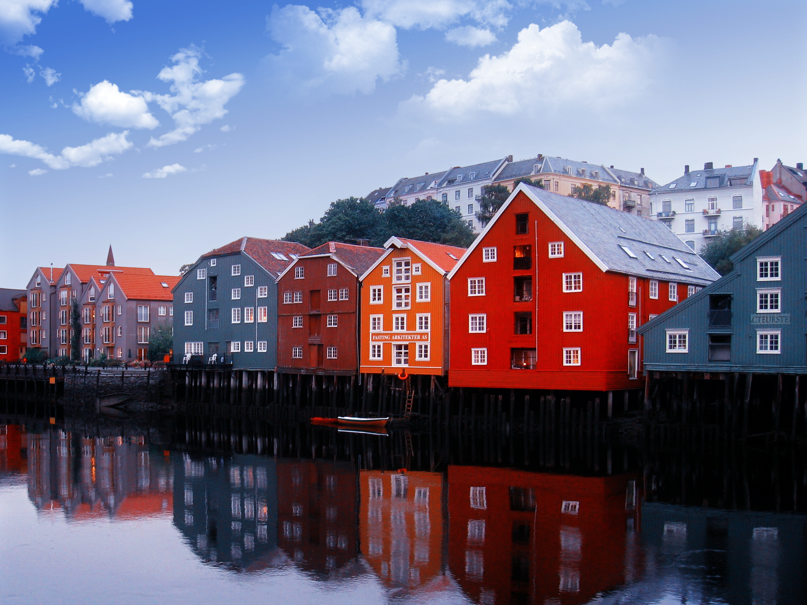 Colorful norway houses wallpaper the stench of for Wallpaper with houses on