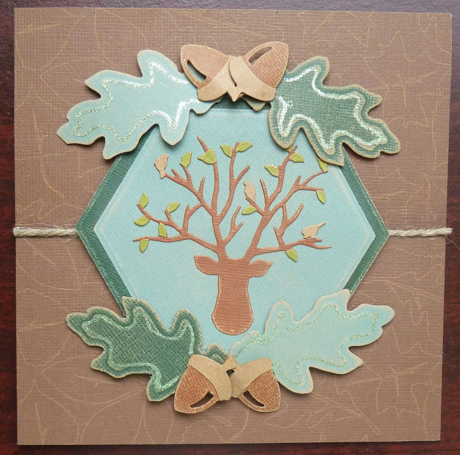 my autumn stag card using spellbinders birdstand die and paperartsy