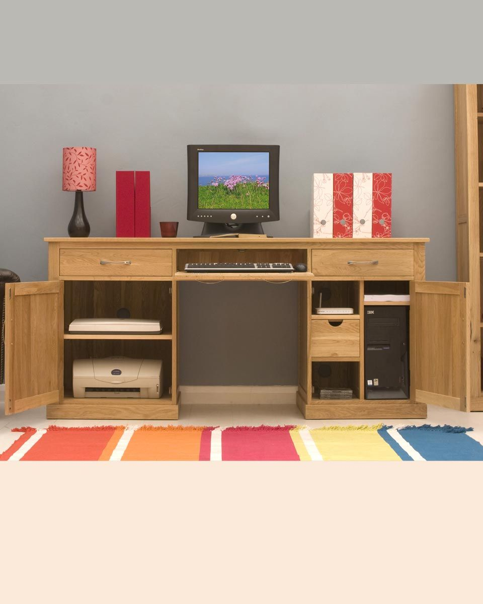 picture mobel oak large hidden office. The Mobel Oak Large Hidden Office Twin Pedestal Desk Is A Contemporary Workstation System Made From Carefully Selected S. Picture