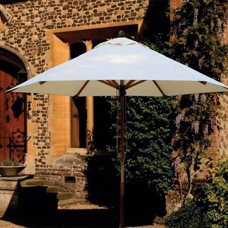 Patio Round Parasol 3m Outdoor Umbrella Protection Garden Sun Shade Pool  Cover | EBay