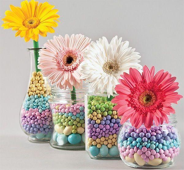 Resultado de imagen para arbolito con flores de papel en frasco de vidrio