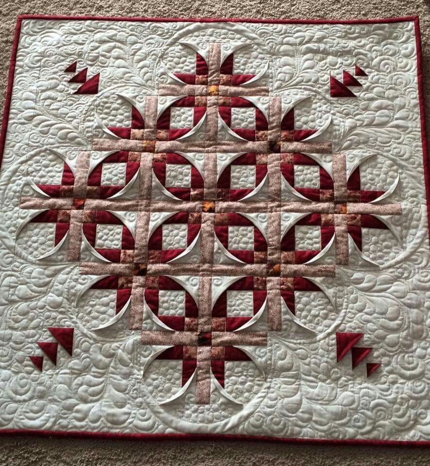 Mexican Star quilted  Looks 3D | Quilts | Star quilt