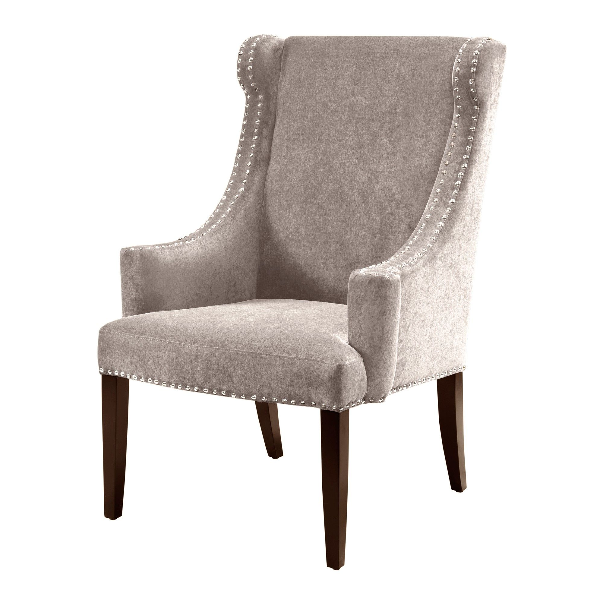 accent chairs taupe brown products wing chair chair wingback chair rh pinterest com
