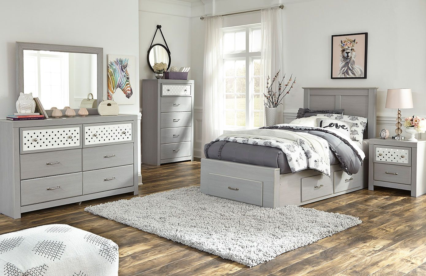 Arcella Youth Super Storage Bedroom Set in 2020 (With