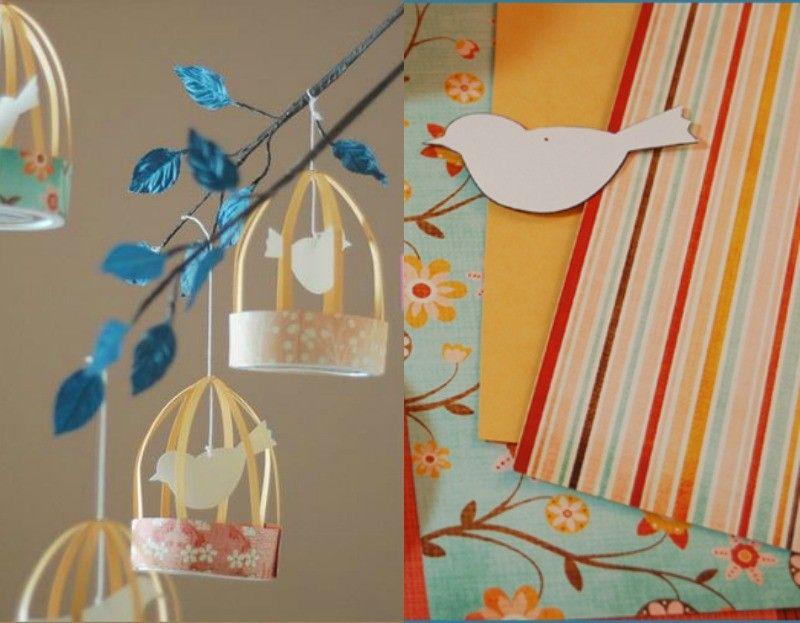 vogelk fig aus papier basteln dekoideen f r das. Black Bedroom Furniture Sets. Home Design Ideas