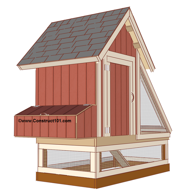4x8 Chicken Coop Plans Free PDF Download Construct101