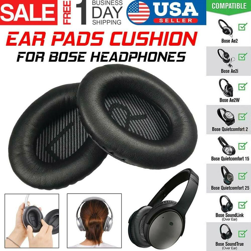 742386c0bb9 Replacement Ear Pads Cushion for Bose QuietComfort QC15 QC2 AE2 Headphones  US #XTECH #Replacement #BOSE #Headphone #Cushion #Soft #Black #Accessories  ...
