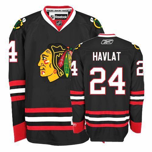 Chicago Blackhawks Martin Havlat 24 Black Authentic Jersey Sale