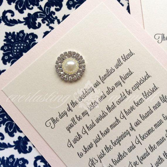 Sister In Law Bridesmaid Invitation Flower By Everlastingmoment