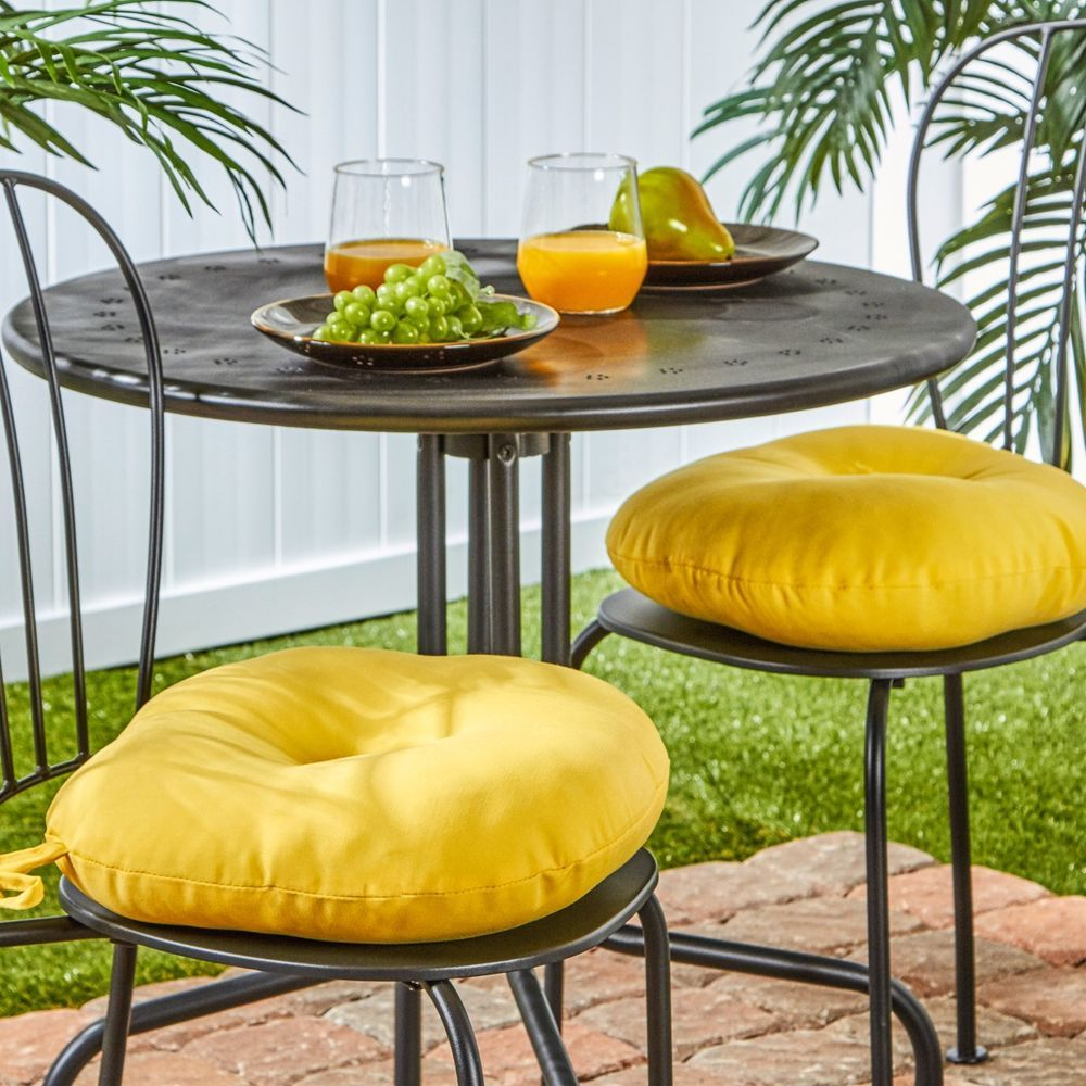Outdoor Patio Cushion Garden Seat Pad Soft Round Pillow Yard Furniture Set Of 2 Outdoorpatiocushion Round Chair Cushions Bistro Chairs Outdoor Round Chair
