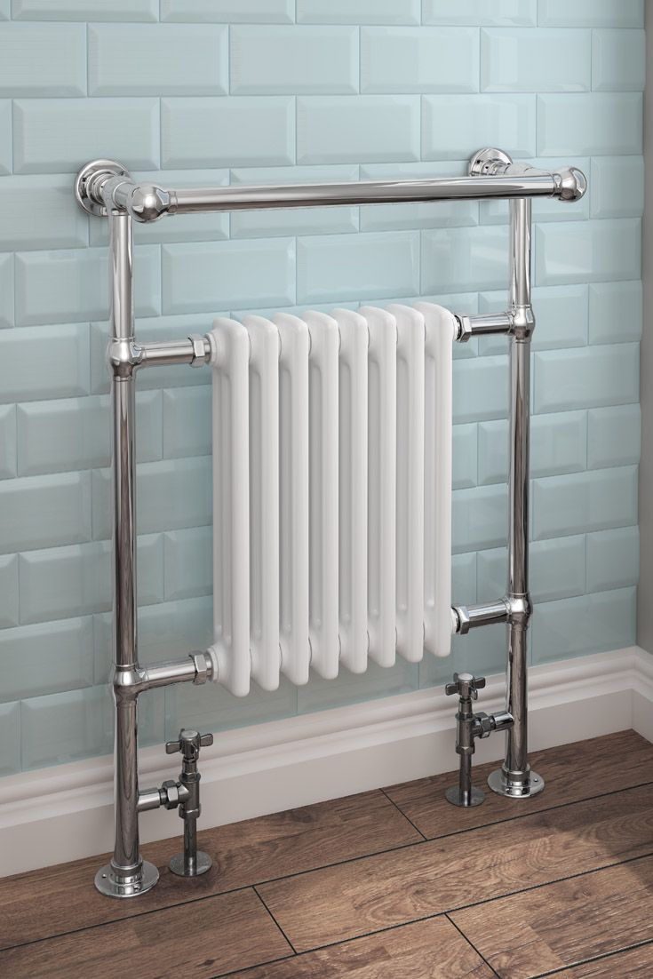 Keswick Traditional 963 x 673mm Heated Towel Rail Radiator (8 ...