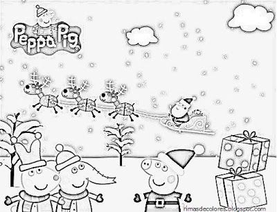 Blog de los niños: Dibujos de Navidad de Peppa Pig para colorear ...