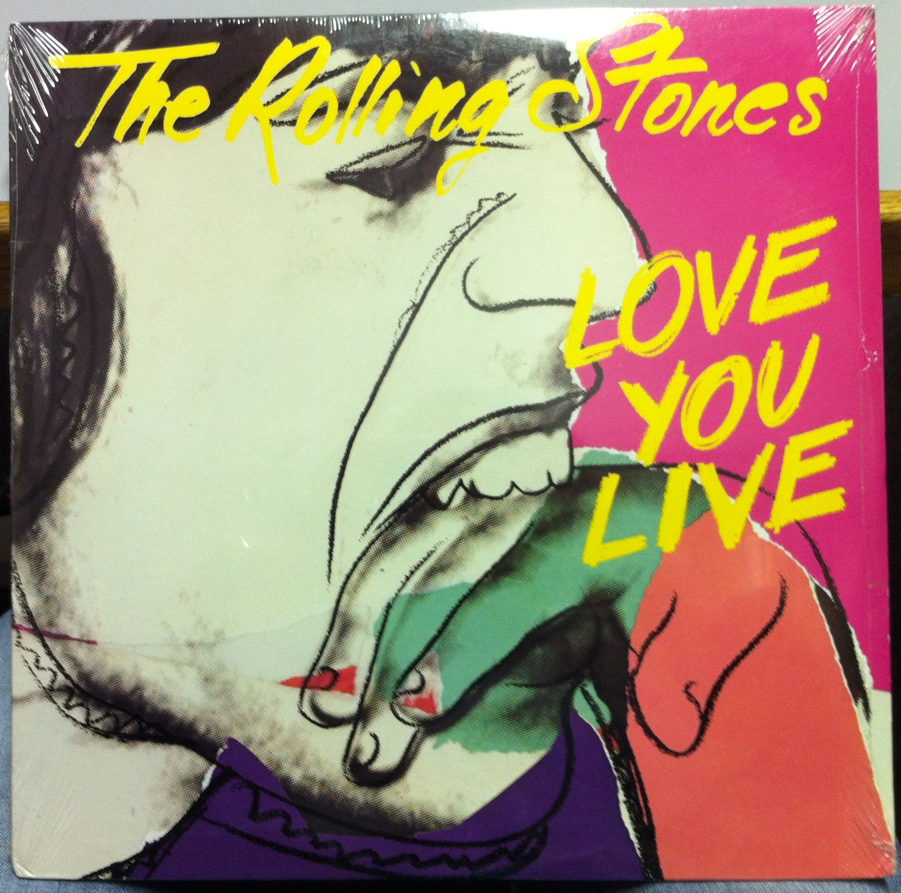 """Rolling Stones """"Love you Live"""" by Andy #Warhol #art #cover  http://artemirabilia.com/artista/andy-warhol/"""