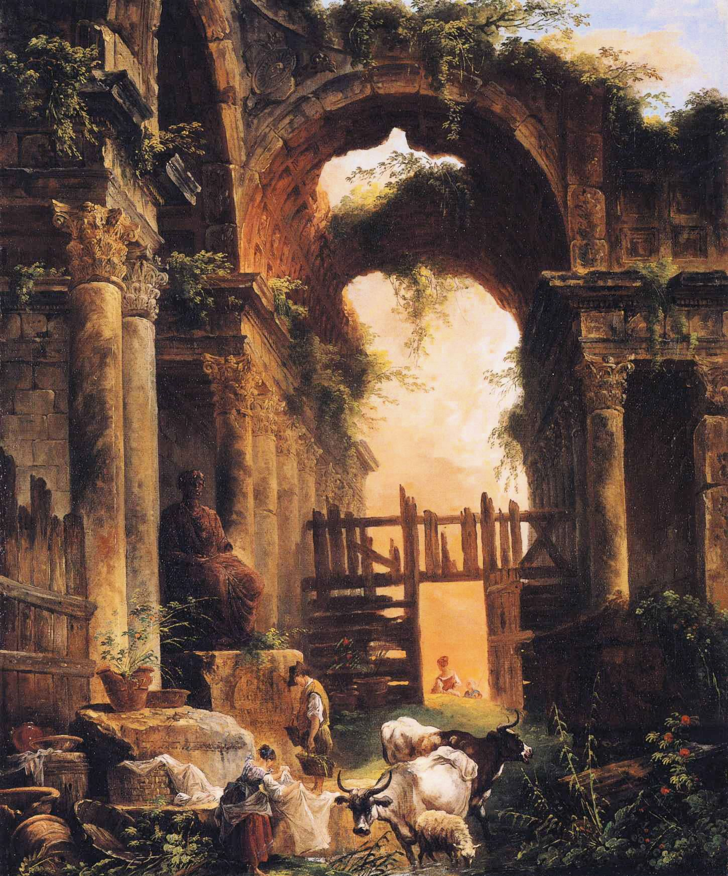 The Decline And Fall Of Modern Civilization 8 Simple Steps To Squandering It All Jewish Israel News Art Painting Architecture Painting Landscape Paintings