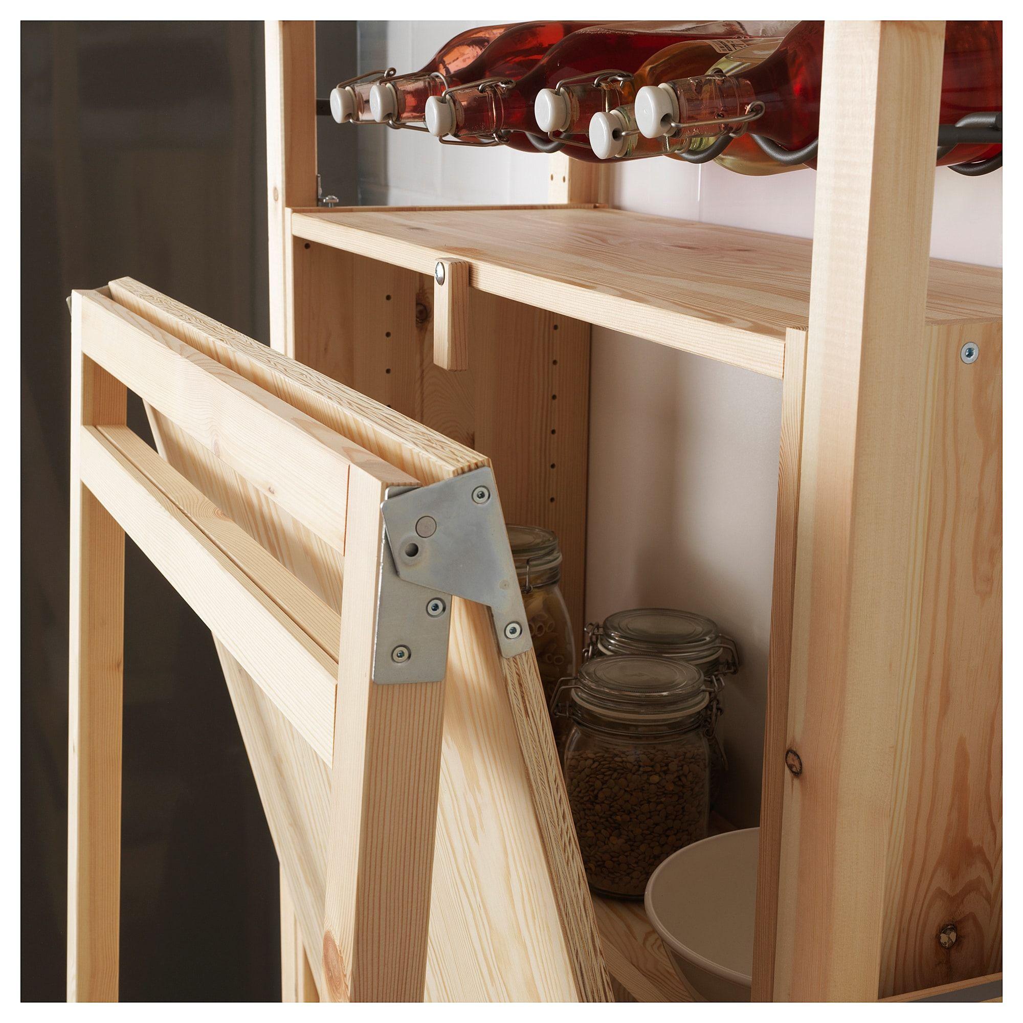 ivar storage unit with foldable table