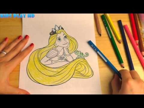 Принцесса Рапунцель Раскраска Для Детей Princess Rapunzel ...