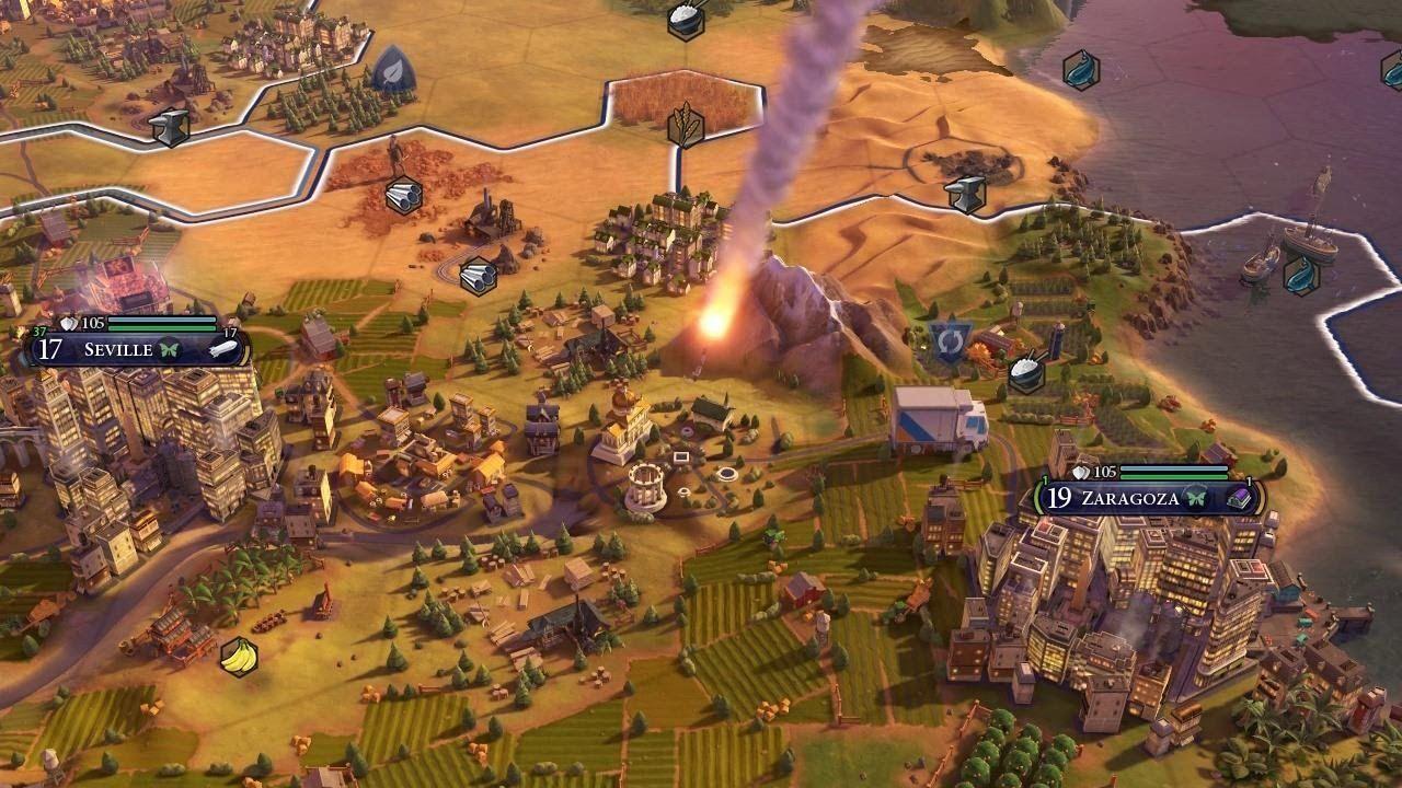 Dropping nukes in Civ VI #CivilizationBeyondEarth #gaming