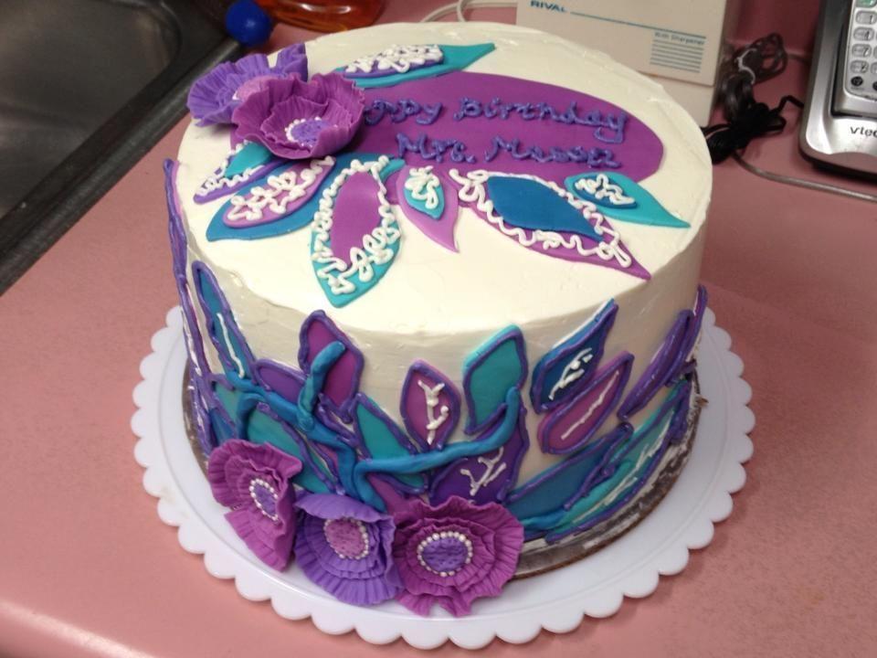 BLUE BIRTHDAY CAKES FOR WOMEN Purple Birthday Cake Ideas