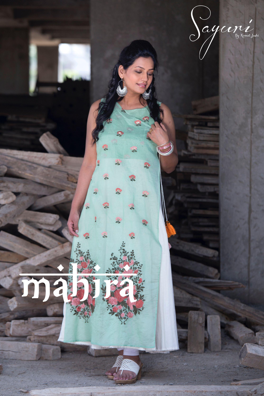 4236ea770f3 Chanderi overlap kurta with white handloom cotton kalis. Find this Pin and  more on Sayuri Design Studio ...