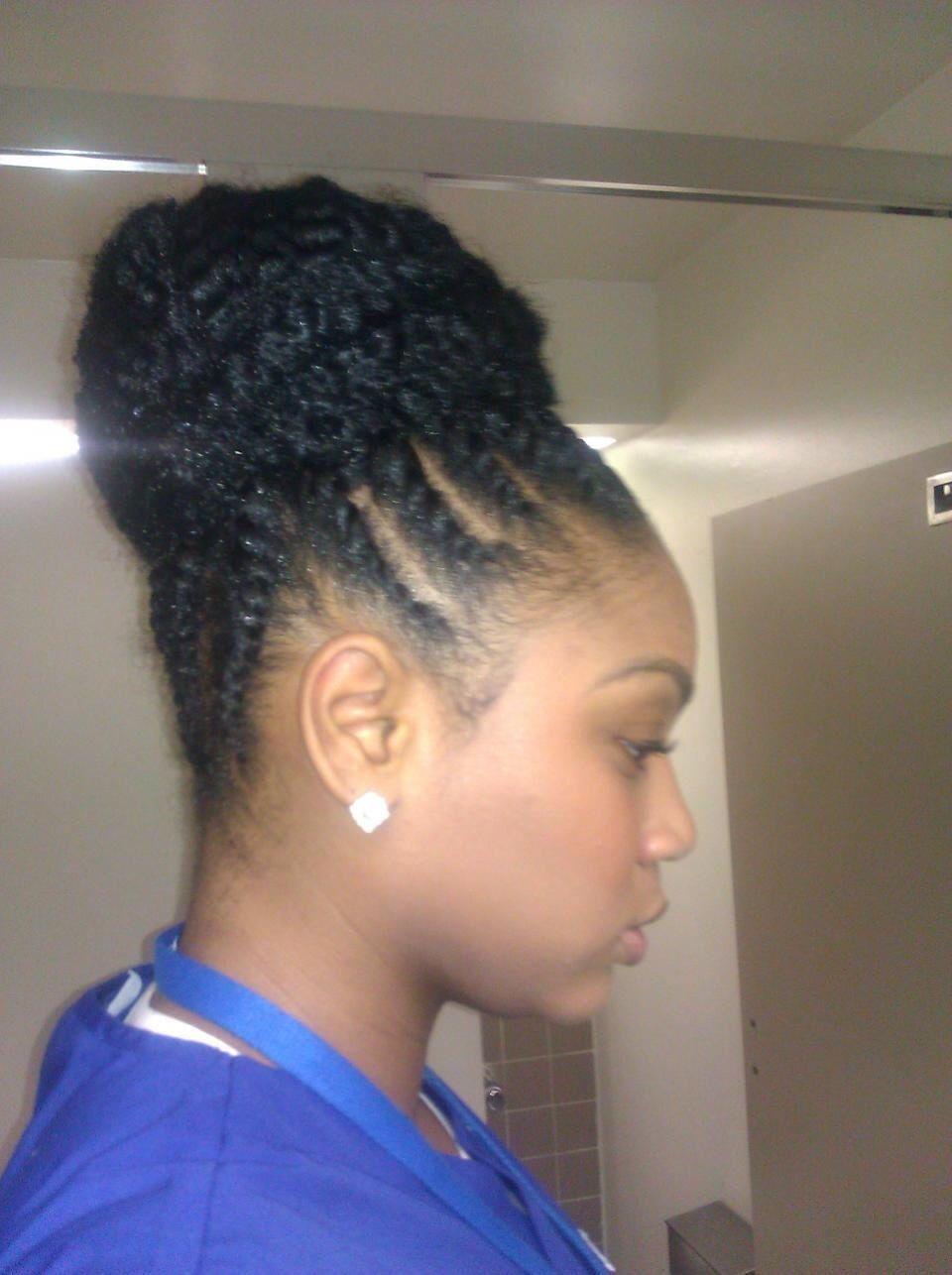 Flat twist and marley bun marleytwists hairstyles pinterest