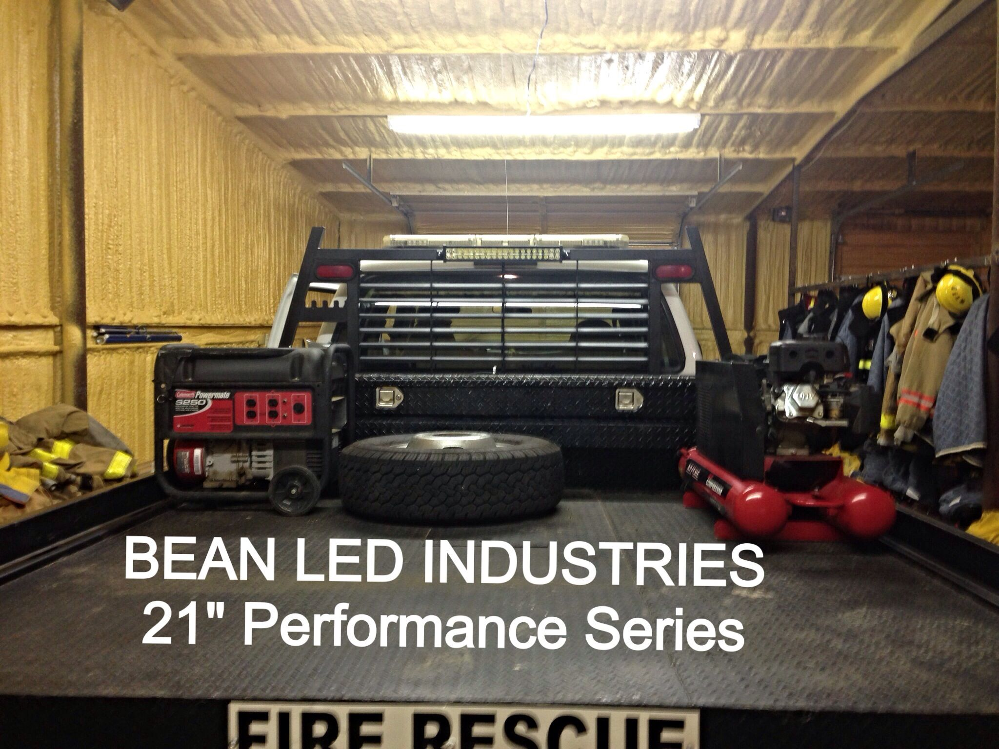 Baja designs ford superduty led light bar kits ford truck a ford f250 fire truck with a 21 performance series led light bar from bean aloadofball Image collections