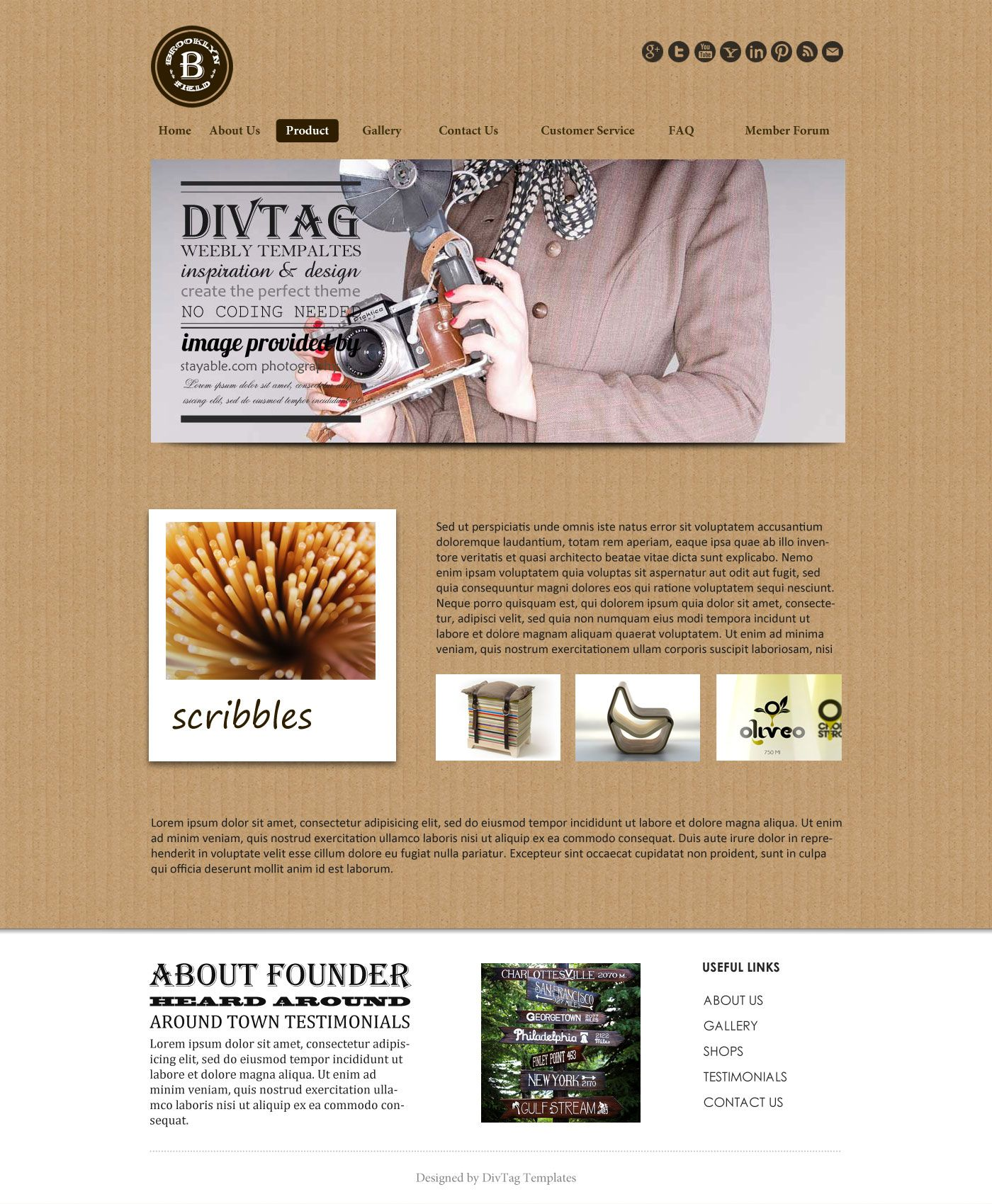 Professional Weebly Template - Brooklyn Field is often under ...