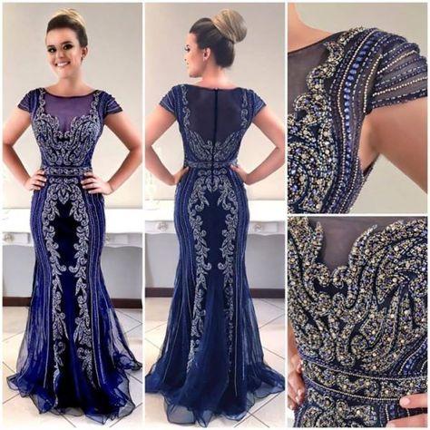 10 Vestidos De Festa Em Tons De Azul Vestidos Vestido De
