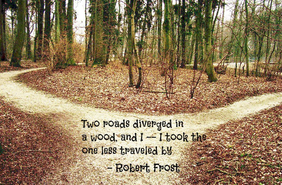 American Military ROAD LESS TRAVELED Inspirational POSTER Robert Frost Quote