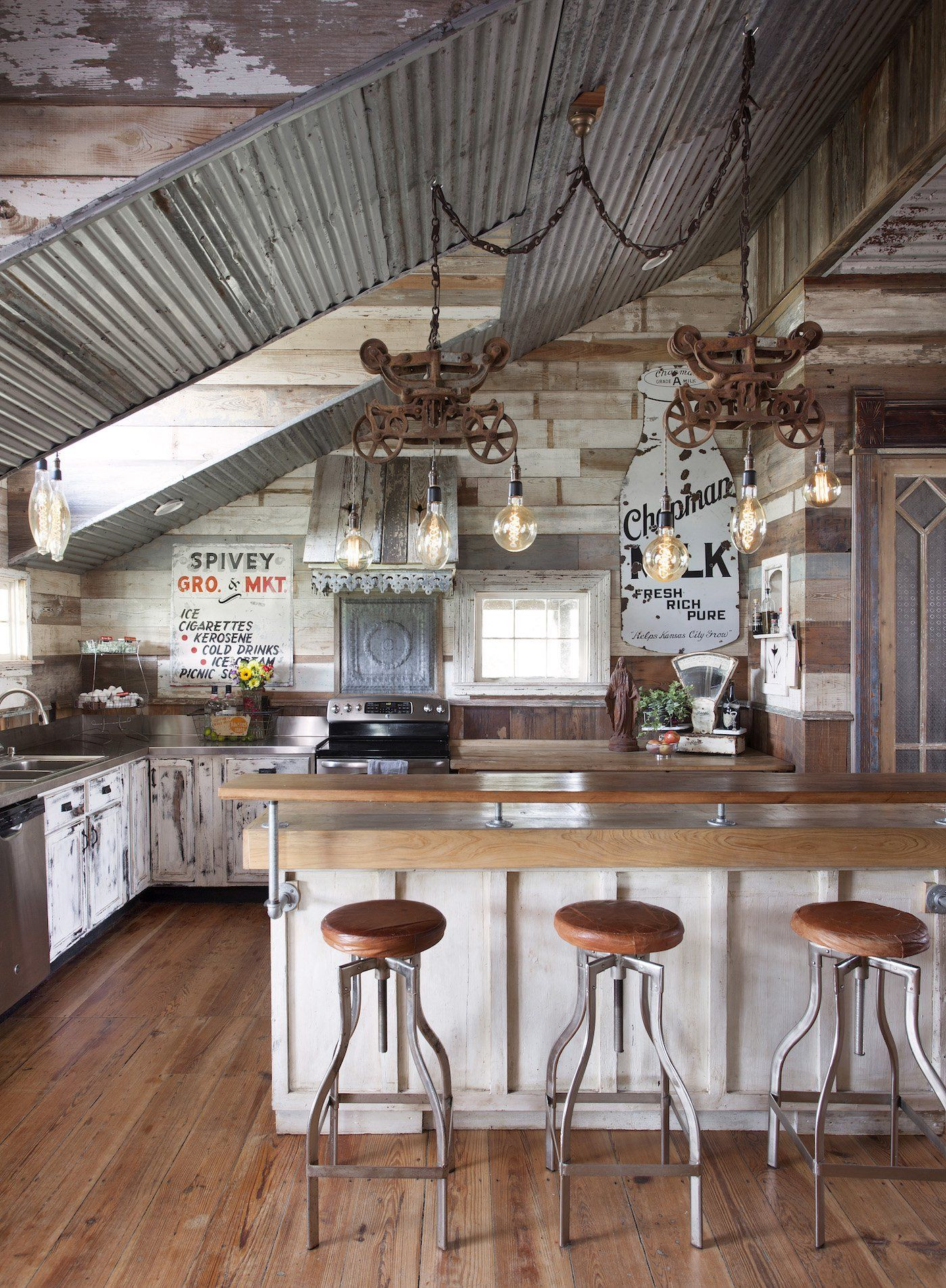 Look inside an antique dealerus dream home in round top kitchen