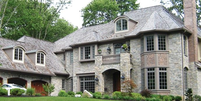 Gray stack stone and brick combinations google search - Stone brick exterior combinations ...