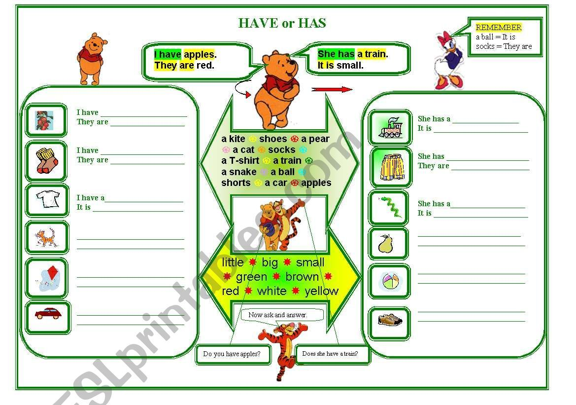 A Worksheet For Young Learners To Practise Writing And To