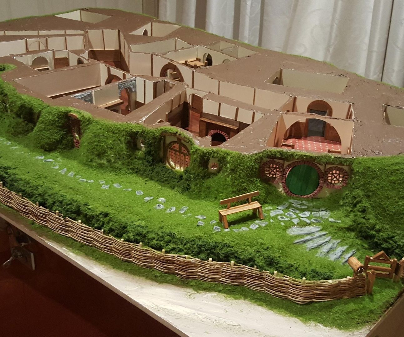 Hand Made Bagend A Hobbit Hole Hobbit Scale And