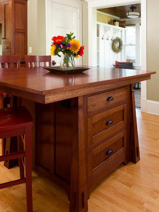 Craftsman Style Kitchen Island With 3