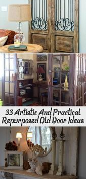 33 Artistic And Practical Repurposed Old Door Ideas – Libby'…
