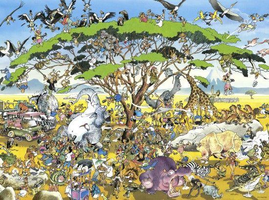 SAFARI No. of pieces: 1500 Size: 80 x 60 cm Artist: Giuseppe Calligaro