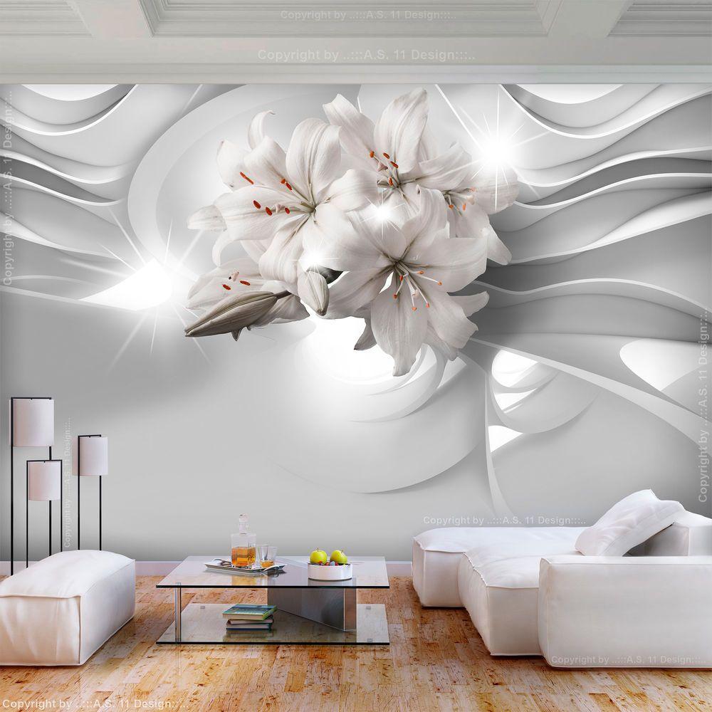 Vlies Fototapete Blumen Lilie Grau Abstrakt Diamant Tapete Wohnzimmer Wandbilder Ebay Fototapete Blumen Fototapete Wohnzimmer Fototapete
