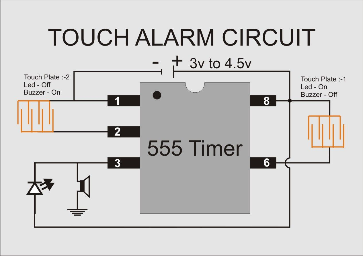touch alarm circuit electronics components electronics projects electronics gadgets electrical engineering electrical [ 1266 x 893 Pixel ]