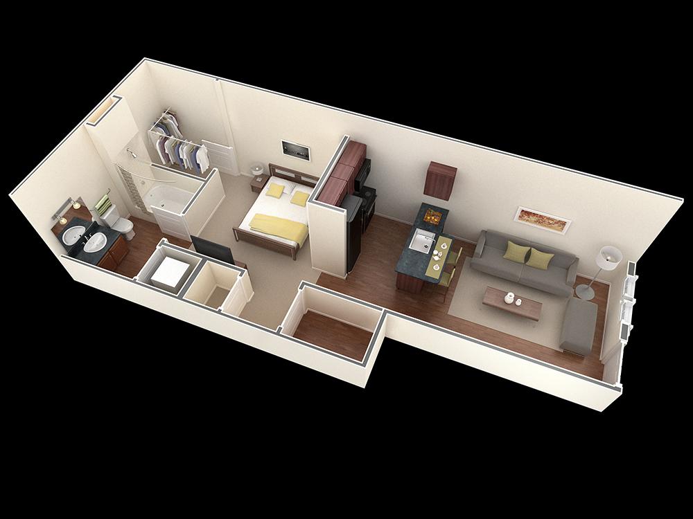 Studio Apartment Austin Texas Wohnungsplanung Kleines