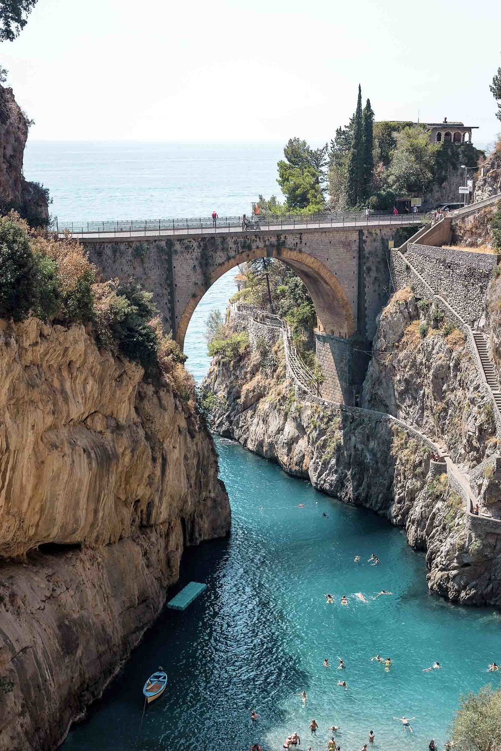 Furore Italy Map.Amalfi Coast Towns A Photo Guide And Map To The Most Beautiful Ones