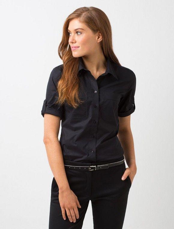 73c440ddc Women's Campbell 3/4 Sleeve Shirt - Black | Dr. B's uniforms in 2019 ...