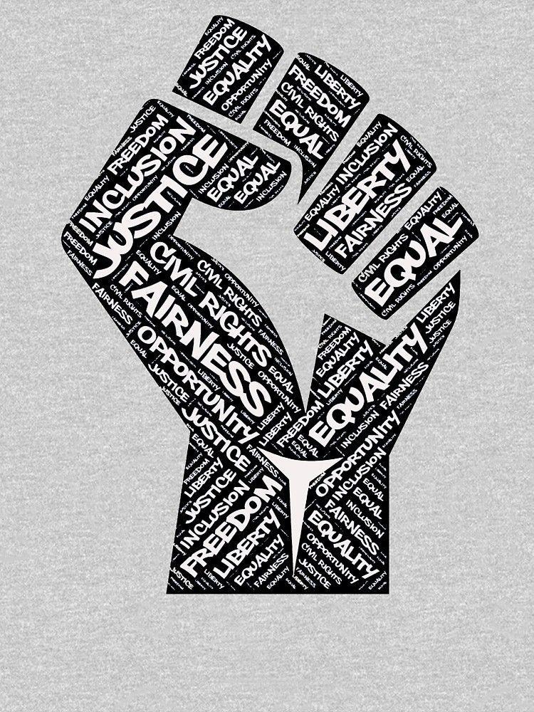 African American Civil Rights Black Power Fist Justice Design Essential T Shirt By Tshirtexpressiv In 2021 Black Lives Matter Art Black Power Fist Black Lives Matter Poster