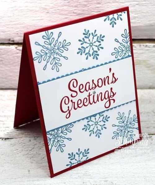 I LOVE Sharing Easy Christmas Card Making Ideas! | I Teach Stamping
