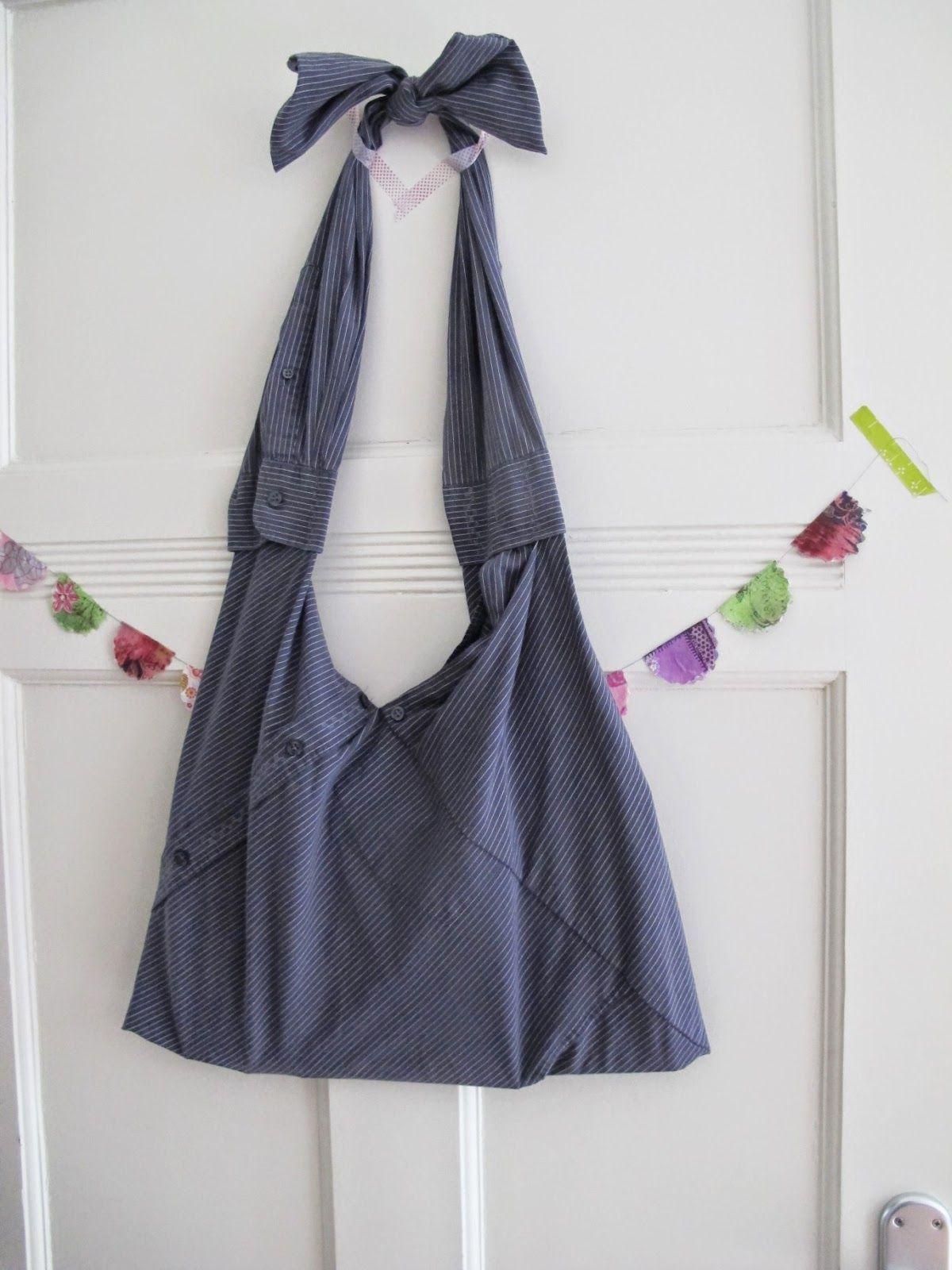 tasche aus hemd altes hemd upcycling pinterest alte hemden taschen und n hen. Black Bedroom Furniture Sets. Home Design Ideas