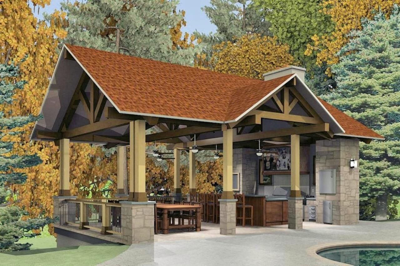 Outdoor Kitchen Pavilion Designs Ideas 28