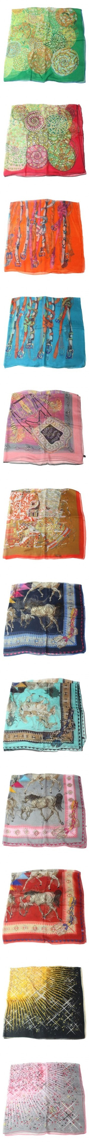 """2012 Vintage Hermes Silk Scarves New Collection"" by shoeswithredsoles on Polyvore"