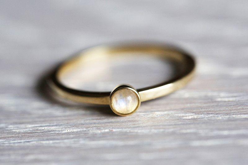 Mondstein Mondstein Ring Mondstein Schmuck Verlobungsring Ein