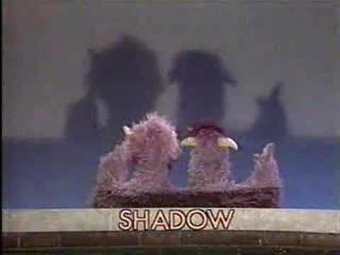 Classic Sesame Street - The 2-headed Monster sees its SHADOW - YouTube