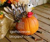 Turkey Pumpkins Craft Ideas | Found on igottacreate.blogspot.com